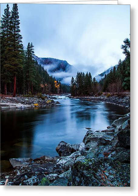 Pacificnorthwest Greeting Cards - Foggy Sunrise Greeting Card by Steven Lamar