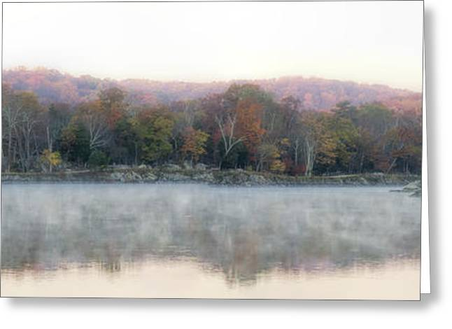See Fog Greeting Cards - Foggy Widewater Panorama Greeting Card by Francis Sullivan