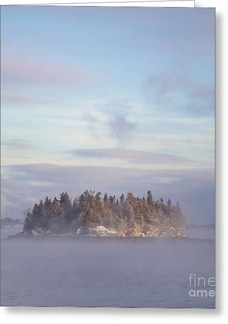 Lubec Greeting Cards - Fogscape Greeting Card by Evelina Kremsdorf