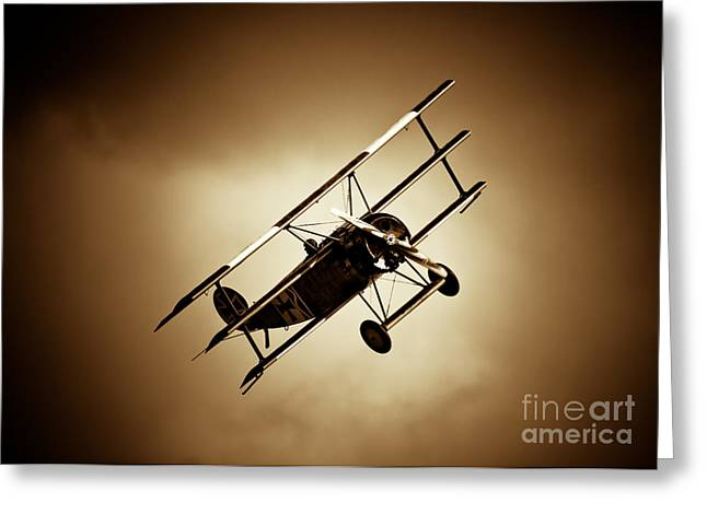 Fokker Dr-1 Greeting Cards - Fokker Dr-1 Greeting Card by Rastislav Margus