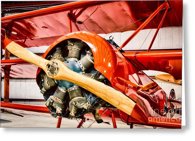 Triplane Greeting Cards - Fokker Dr.1 Greeting Card by Inge Johnsson