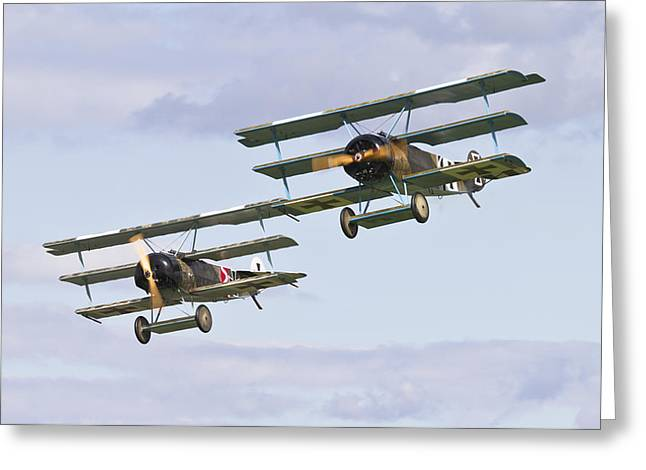Ww1 Greeting Cards - Fokker Fighters Greeting Card by Maj Seda
