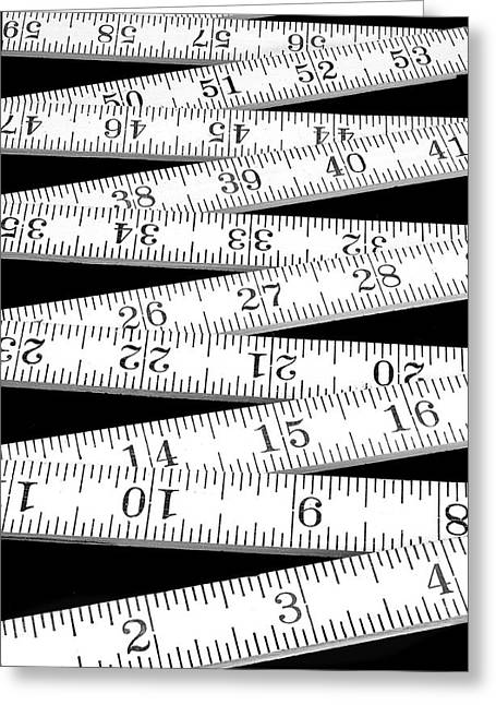 Dimension Greeting Cards - Folding Carpenters Ruler Greeting Card by Jim Hughes
