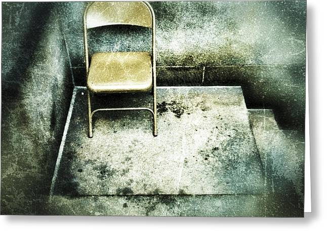 Empty Chairs Digital Greeting Cards - Folding Chair on Stoop Greeting Card by Amy Cicconi