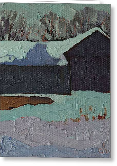 Realism Greeting Cards - Foley Mountain Farm Greeting Card by Phil Chadwick
