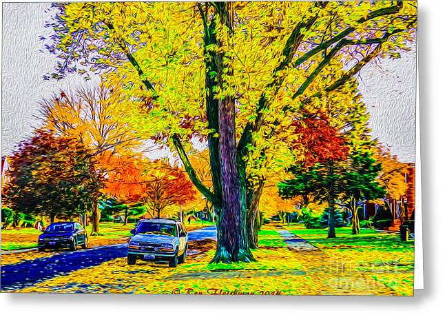 Fall Grass Greeting Cards - Foliage Fest Greeting Card by Ron Fleishman