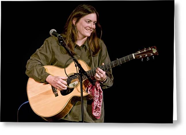 Music Time Greeting Cards - Folk Musician Denise Franke Greeting Card by Randall Nyhof