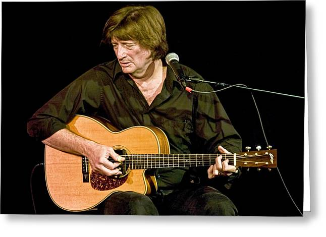 Music Time Greeting Cards - Folk Singer Chris Smither Greeting Card by Randall Nyhof