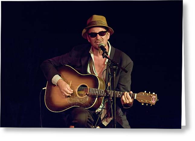 Music Time Greeting Cards - Folk Singer Greg Brown Greeting Card by Randall Nyhof