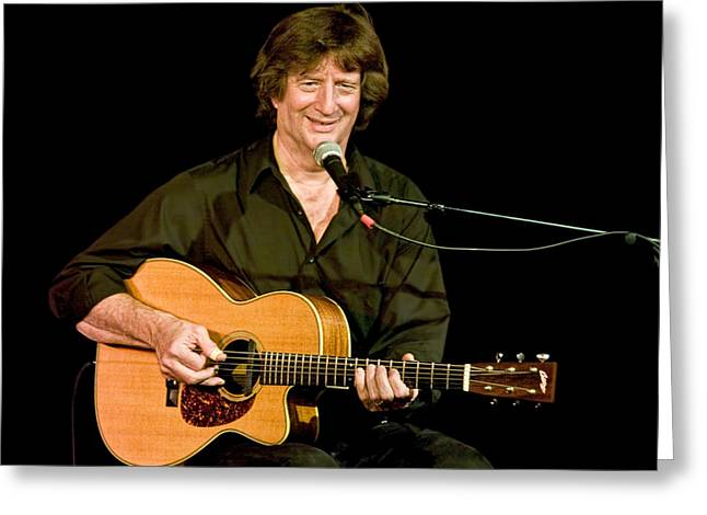 Music Time Greeting Cards - Folk Singer Songwriter Chris Smither Greeting Card by Randall Nyhof