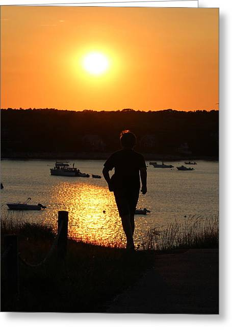 Chatham Greeting Cards - Follow Him  Greeting Card by Amy Coomber Eberhardt