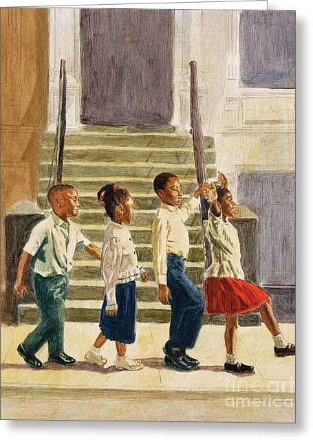 African American Artist Greeting Cards - Follow Me Greeting Card by Colin Bootman