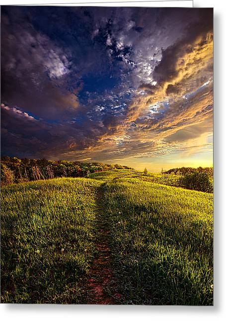 Hike Greeting Cards - Follow Me Greeting Card by Phil Koch