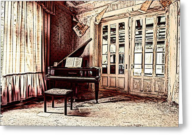Pianist Mixed Media Greeting Cards - Follow Me Greeting Card by Leitte Family