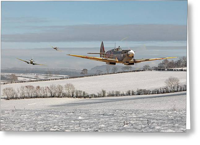 Spitfire Greeting Cards - Follow my Leader Greeting Card by Pat Speirs