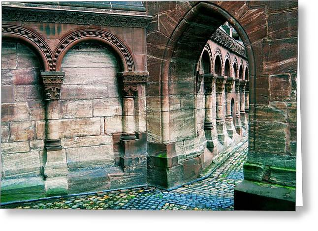 Haut Digital Greeting Cards - Follow the Arches Greeting Card by Maria Huntley