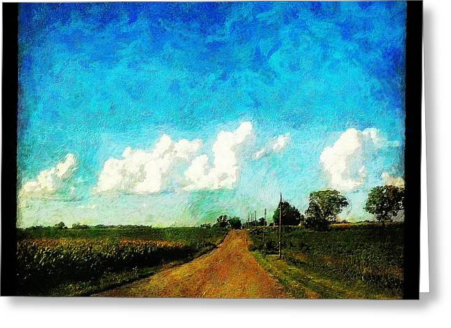 Rural Indiana Paintings Greeting Cards - Follow the Leader Greeting Card by Sandy MacGowan