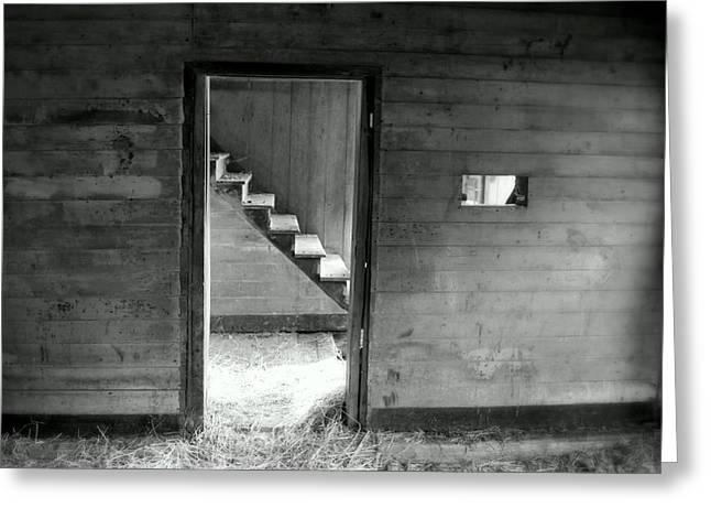 Cabin Wall Greeting Cards - Follow the Light Greeting Card by Karen Wiles
