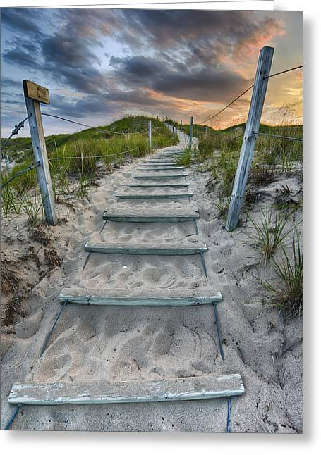 Sand Dunes Greeting Cards - Follow the Path Greeting Card by Sebastian Musial