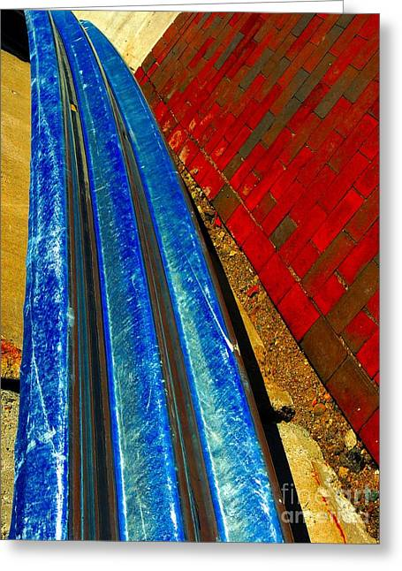 Noticeable Greeting Cards - Follow The Rails Greeting Card by Marcia Lee Jones