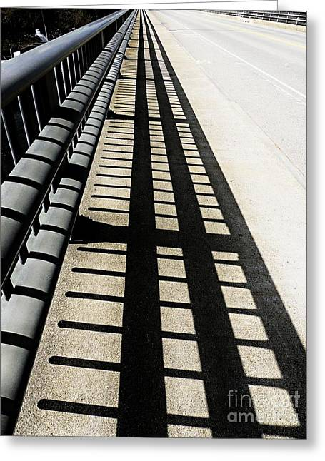 Experiment Greeting Cards - Follow The Tracks Greeting Card by Marcia Lee Jones