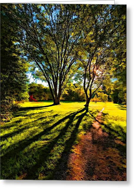 Slide Prints Digital Greeting Cards - Follow Your Dreams paint filter Greeting Card by Steve Harrington
