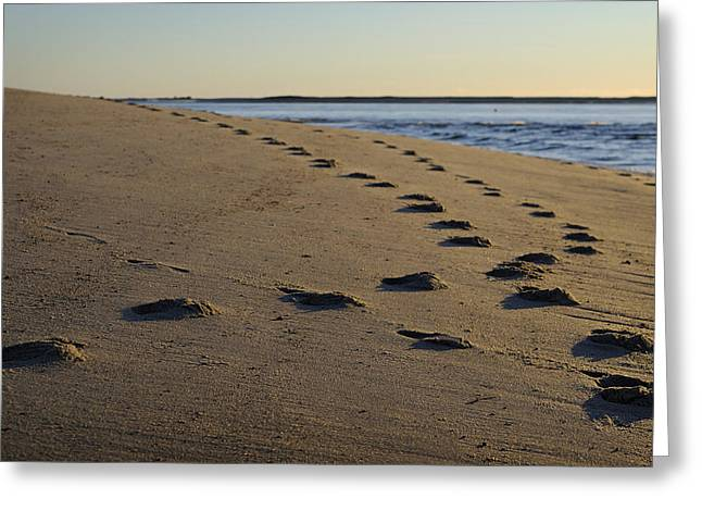 Foot-step Greeting Cards - Follow Your Path Greeting Card by Luke Moore