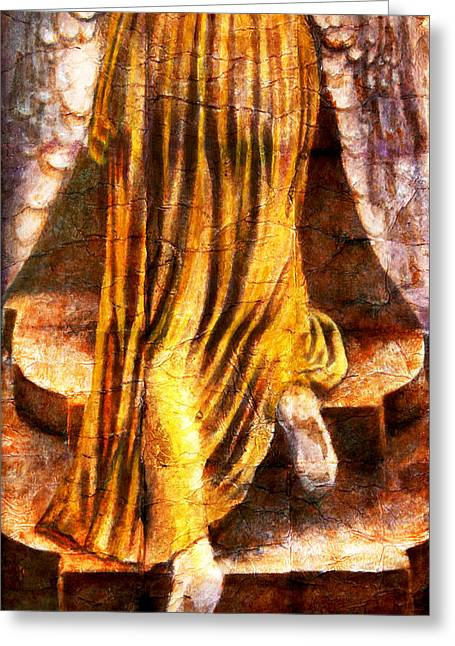Angels Greeting Cards - Following A Path Not Taken By Mortals Greeting Card by Giorgio Tuscani