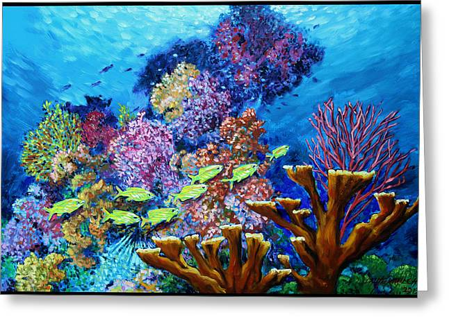 Underwater Scenes Greeting Cards - Following The Leader Greeting Card by John Lautermilch