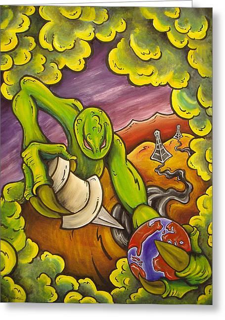 Folly Of Man Greeting Card by Robb Rael