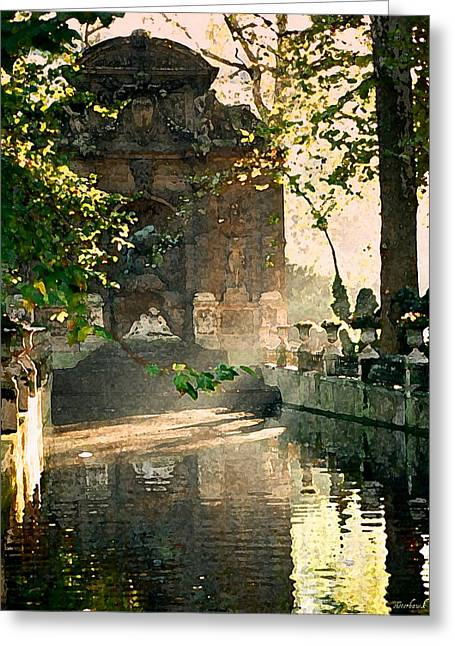 Galatea Greeting Cards - Fontaine de Medicis Greeting Card by Kathy Bassett