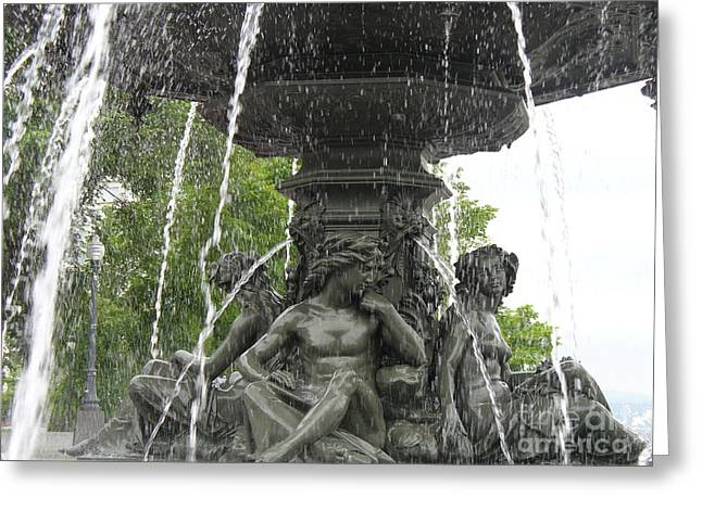 Historic Statue Greeting Cards - Fontaine de Tourny Greeting Card by Lingfai Leung