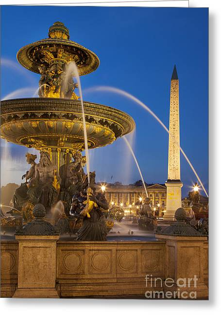 Art Of Building Greeting Cards - Fontaine des Mers Greeting Card by Brian Jannsen