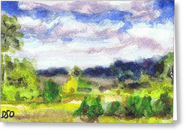Fontainebleau Forest Greeting Cards - Fontainebleau Field Greeting Card by David Ormond