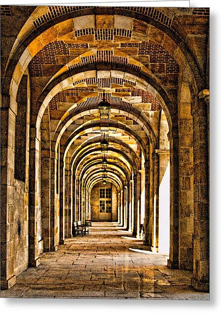 Fontainebleau Greeting Cards - Fontainebleau Palace Corridor - France Greeting Card by Jon Berghoff