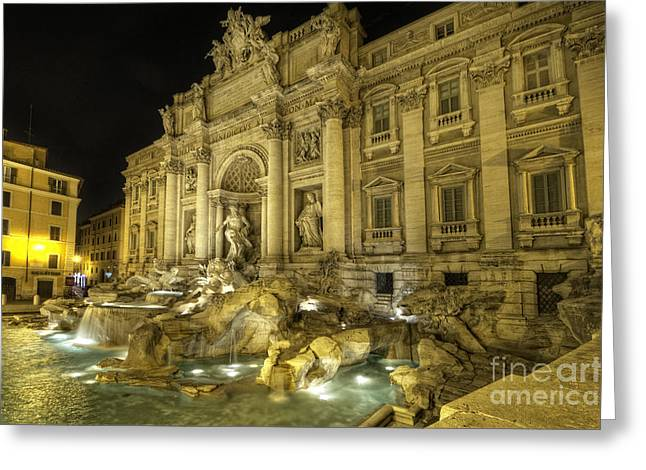 Roman Statue Greeting Cards - Fontana di Trevi 1.0 Greeting Card by Yhun Suarez