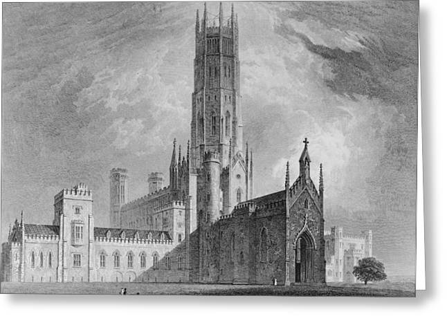 Gothic Revival Greeting Cards - Fonthill Abbey From The North-west Greeting Card by English School