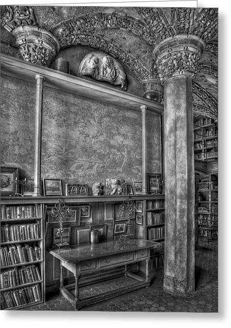 Byzantine Greeting Cards - Fonthill Castle Library Greeting Card by Susan Candelario