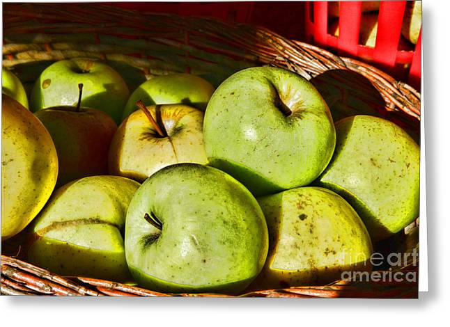Picking Greeting Cards - Food - A Basket of Apples Greeting Card by Paul Ward