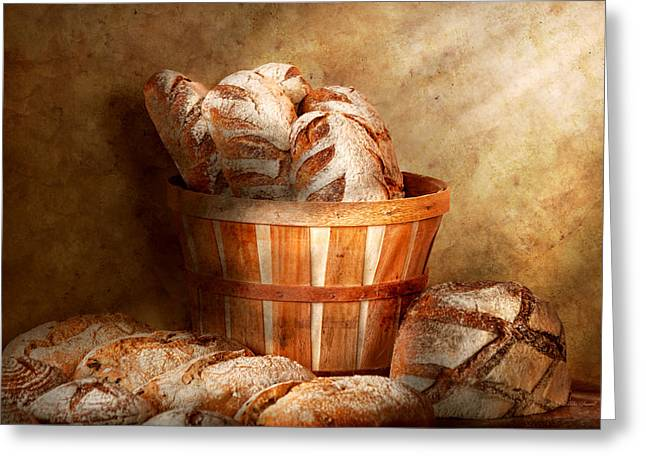 Food - Bread - Your daily bread Greeting Card by Mike Savad