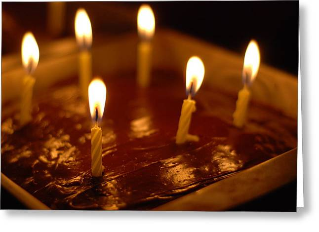 Pan Cakes Greeting Cards - Food candles Greeting Card by Mary Chappell