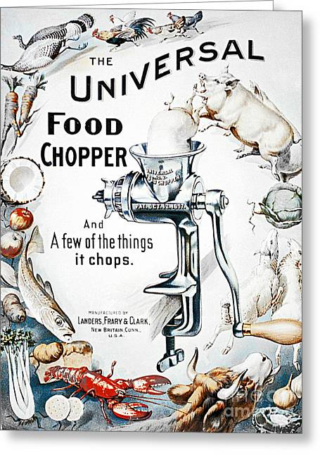 Old Grinders Digital Art Greeting Cards - Food Chopper Greeting Card by Flamingo Graphix John Ellis