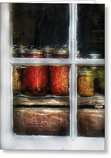 Affordable Kitchen Art Greeting Cards - Food - Country Preserves  Greeting Card by Mike Savad