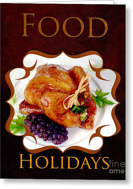 Essen Greeting Cards - Food Holiday Gallery Greeting Card by Iris Richardson