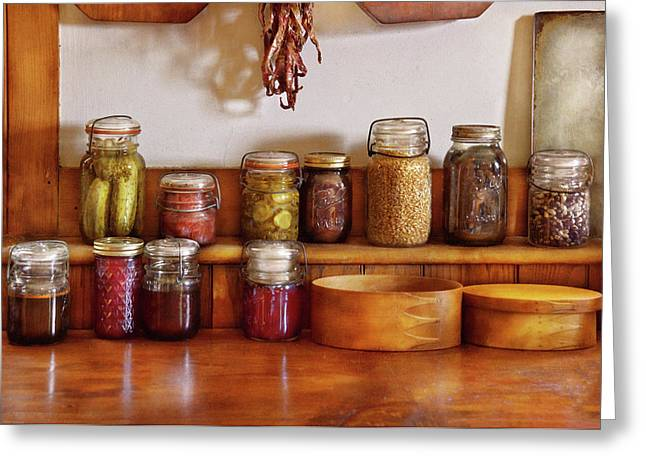 Pickling Greeting Cards - Food - I love preserving things Greeting Card by Mike Savad