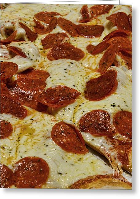 Neapolitan Greeting Cards - Food - Pepperoni Pizza Greeting Card by Paul Ward