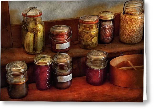 Customizable Greeting Cards - Food - Preserving History  Greeting Card by Mike Savad