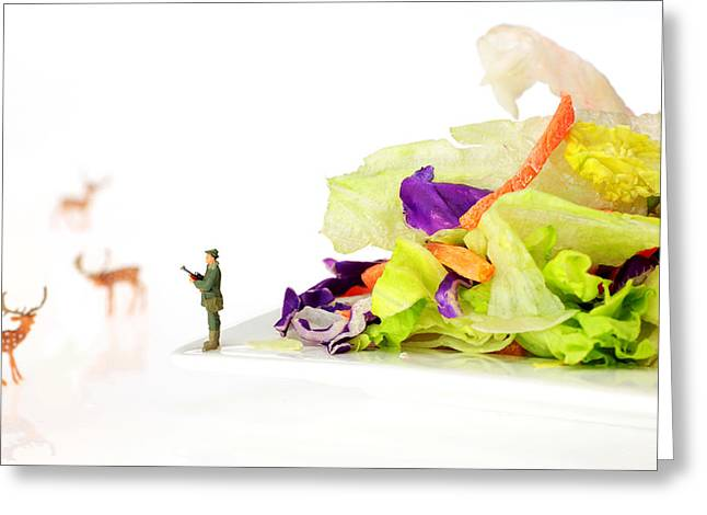 Creative People Greeting Cards - Food protection little people on food Greeting Card by Paul Ge