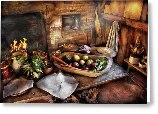 Affordable Kitchen Art Greeting Cards - Food - The start of a healthy meal  Greeting Card by Mike Savad