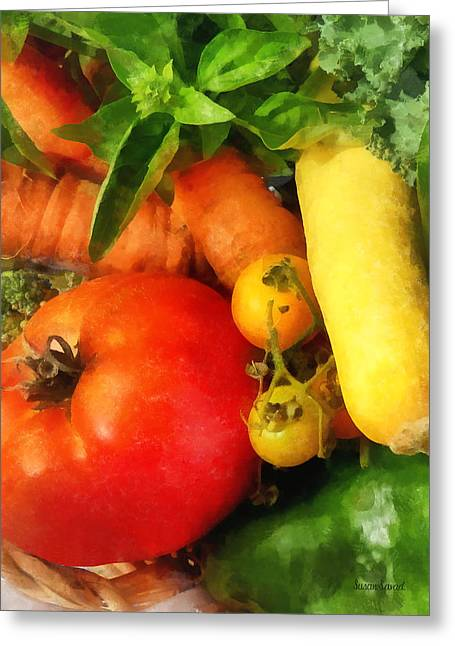 Food - Vegetable Medley Greeting Card by Susan Savad